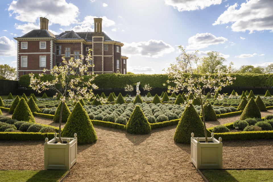 The Cherry Garden at Ham House and Garden, London, which faces increasing heat