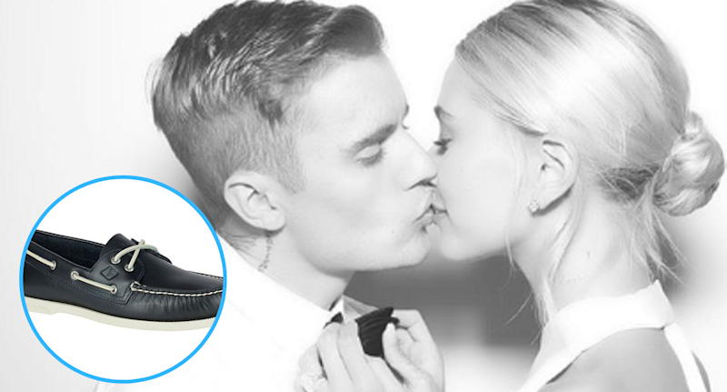 Justin Bieber cleaned up nicely wearing boat shoes to his wedding rehearsal dinner