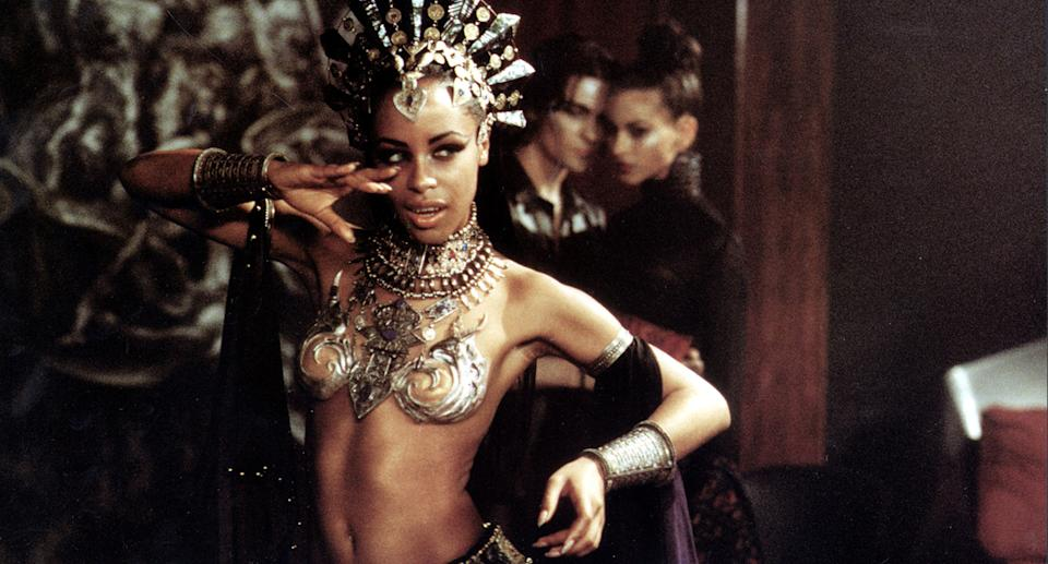RnB star Aaliyah pictured in a music video. Source: AP