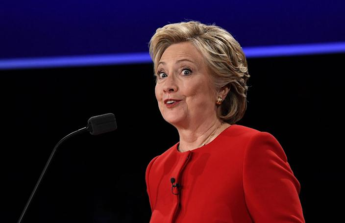 <p>Hillary Clinton speaks during the first presidential debate at Hofstra University in Hempstead, New York on September 26, 2016. (Jewel Samad/AFP/Getty Images) </p>