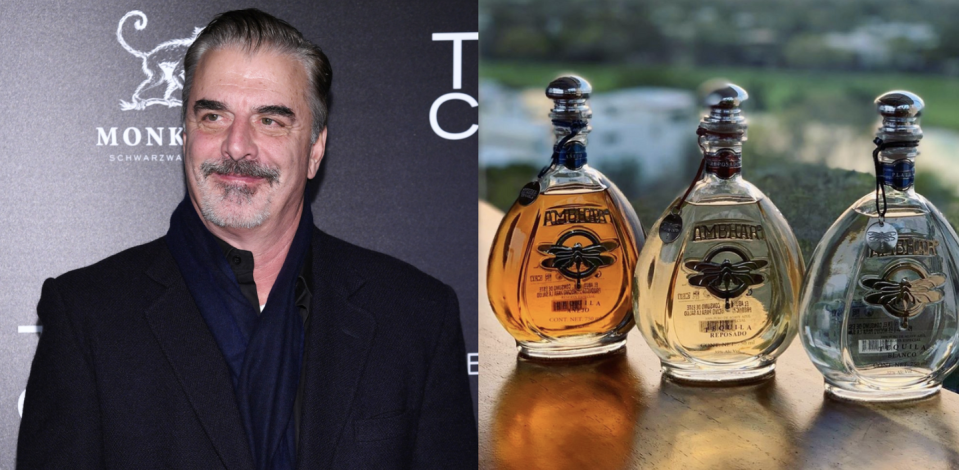 """<p>Chris Noth, a.k.a. Big on <em>Sex and the City</em>, took over Ambhar, an ultra-premium tequila company, in 2018. Made from 100% blue agave, it's aged in oak bourbon barrels for at least two years. Oh, FYI, Noth himself is far more interested in sipping tequila than a Cosmo, the cocktail that <em>Sex and the City</em> inarguably put on the map.</p><p><a class=""""link rapid-noclick-resp"""" href=""""https://go.redirectingat.com?id=74968X1596630&url=https%3A%2F%2Fwww.totalwine.com%2Fspirits%2Ftequila%2Fanejo%2Fambhar-tequila-anejo%2Fp%2F109505750&sref=https%3A%2F%2Fwww.delish.com%2Ffood%2Fg32949671%2Fcelebrity-alcohol-brands%2F"""" rel=""""nofollow noopener"""" target=""""_blank"""" data-ylk=""""slk:BUY NOW"""">BUY NOW</a> <em><strong>$49, totalwine.com</strong></em></p>"""