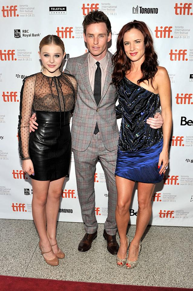 """<a href=""""http://movies.yahoo.com/movie/contributor/1808549150"""">Chloe Moretz</a>, <a href=""""http://movies.yahoo.com/movie/contributor/1809675503"""">Eddie Redmayne</a> and <a href=""""http://movies.yahoo.com/movie/contributor/1800019350"""">Juliette Lewis</a> at the 2011 Toronto Film Festival premiere of """"Hick"""" on September 10, 2011."""