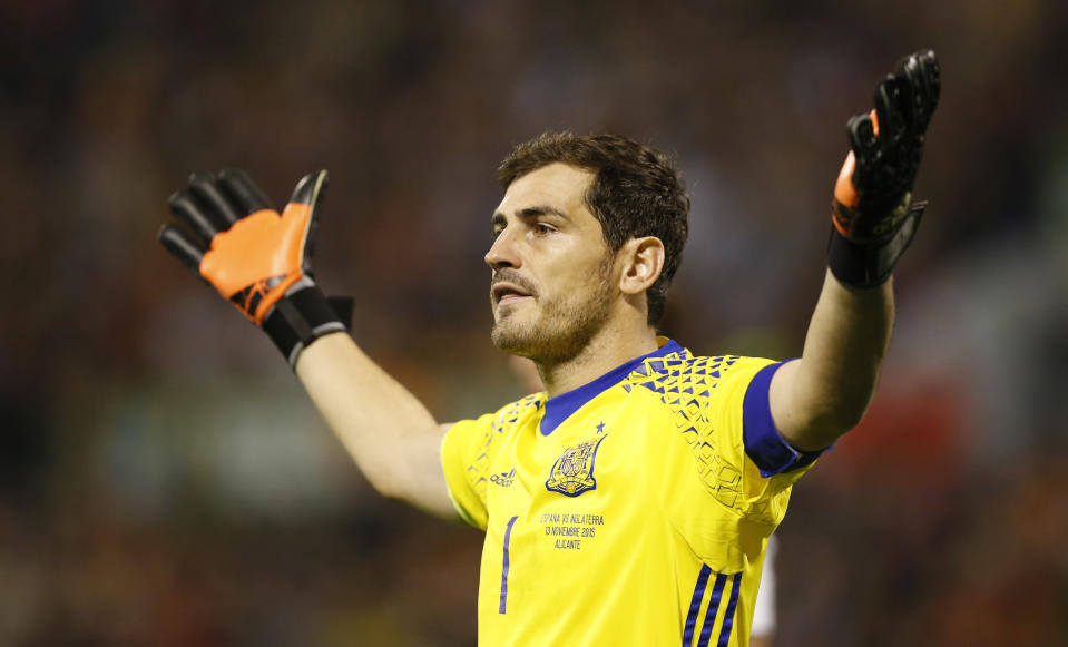Football - Spain v England - International Friendly - Jose Rico Perez Stadium, Alicante, Spain - 13/11/15  Spain's Iker Casillas  Action Images via Reuters / Carl Recine  Livepic  EDITORIAL USE ONLY.