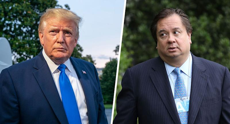 President Trump (Photo: Tasos Katopodis/Getty Images); George Conway (Photo: Chip Somodevilla/Getty Images)