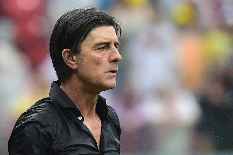 Germany's coach Joachim Loew during a World Cup match against the US in Recife on June 26, 2014