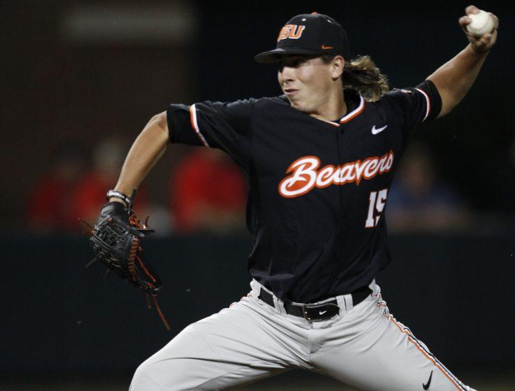 Luke Heimlich, seen here in 2015, is Oregon State's top pitcher this season. (AP)