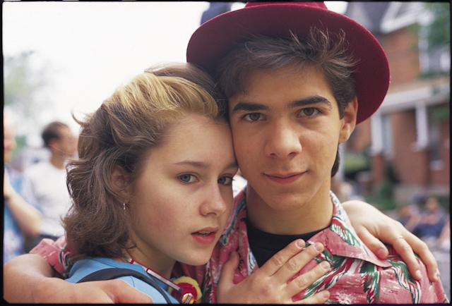 Stacy Mistysyn and fan favorite Pat Mastroianni in <em>Degrassi Junior High.</em> (Photo: CATV/Courtesy Everett Collection)