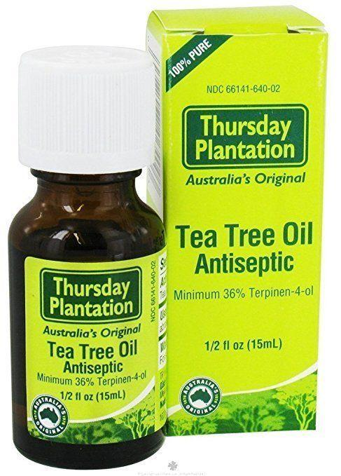 "Tea tree oil has become a savior in our beauty and skin care routines. It works great as a spot treatment for annoying pimples, it can be used to create a natural toner and some people even <a href=""http://www.naturallivingideas.com/tea-tree-oil-for-skin/"" target=""_blank"">use a few drops in the bath</a> to combat body acne and eczema. <br /><br /><strong><a href=""https://thursdayplantationretail.com/product/100-pure-tea-tree-oil-50ml/"" target=""_blank"">Thursday Plantation tea tree oil</a>, $15.99</strong>"