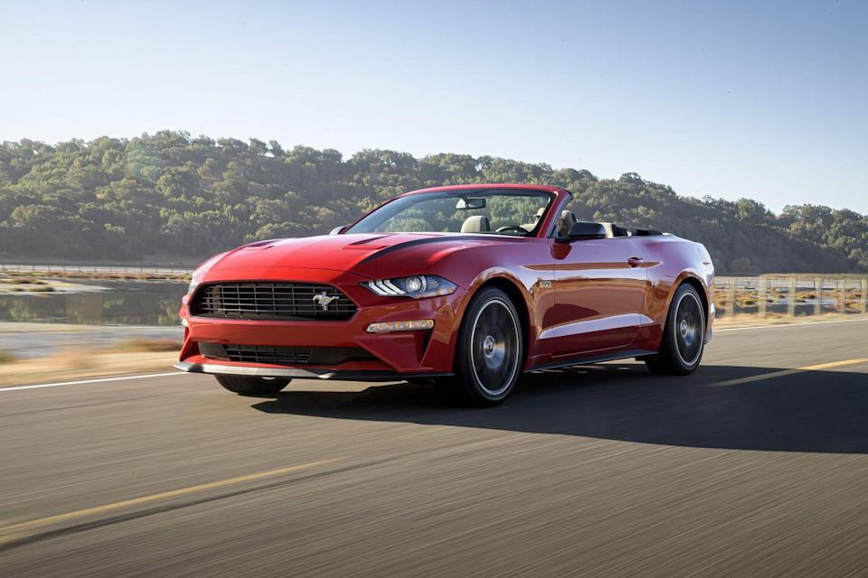 "<p>Arguably one of the most recognizable cars of all time, the <a href=""https://www.caranddriver.com/ford/mustang"" rel=""nofollow noopener"" target=""_blank"" data-ylk=""slk:2020 Mustang"" class=""link rapid-noclick-resp"">2020 Mustang</a> continues to deliver eye-catching style and driving excitement. Its ability to be personalized and performance-enhanced also have endeared <a href=""https://www.caranddriver.com/ford"" rel=""nofollow noopener"" target=""_blank"" data-ylk=""slk:Ford's"" class=""link rapid-noclick-resp"">Ford's</a> pony car to the public for more than 55 years. While the standard turbocharged four-cylinder might sound like a blasphemous choice for a muscle car, the EcoBoost model is legitimately enjoyable and affordable. The Mustang GT continues to carry the V-8 torch against crosstown rivals from Chevy and Dodge, but it bests them with a better combination of athleticism and livability. Sure, some of the Stang's interior materials are subpar and its back seat is tight, but this legendary muscle car has evolved and consistently lived up to that title.</p><p><a class=""link rapid-noclick-resp"" href=""https://www.caranddriver.com/ford/mustang"" rel=""nofollow noopener"" target=""_blank"" data-ylk=""slk:Review, Pricing, and Specs"">Review, Pricing, and Specs</a></p>"