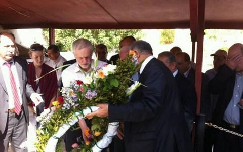 Jeremy Corbyn at tribute event for Palestine 'martyrs'... including plotters behind 1972 slaughter of Israeli Olympic athletes - Credit: Telegraph