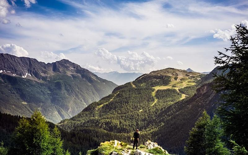 Taste the fresh air in the Alps - This content is subject to copyright.