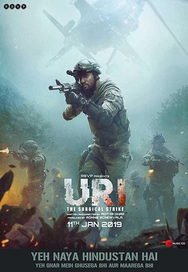 Starring Vicky Kaushal in the lead role, 'Uri - The Surgical Strike' is the story of Major Vihaan Singh Shergill of the Indian Army, who leads a covert operation against a group of militants who attacked a base in Uri, Kashmir, in 2016 and killed many soldiers.