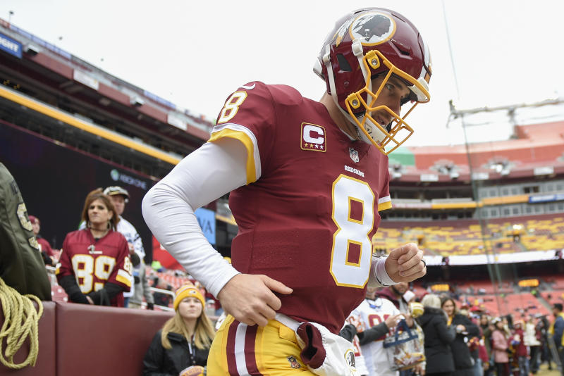 Kirk Cousins is headed to Minnesota after landing a three-year deal that guarantees him $84 million. (AP)