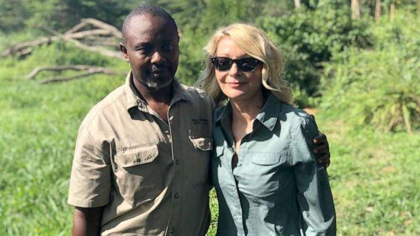 PHOTO: Jean-Paul Mirenge Remezo and Kimberly Sue Endicott at the Queen Elizabeth National Park in Uganda on April 8, 2019. (Wild Frontiers Uganda)