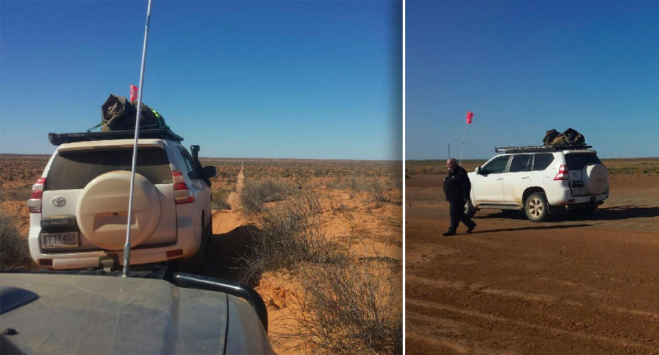 Bruce Atkinson's white 4WD. The man and the vehicle haven't been seen for more than 24 hours.