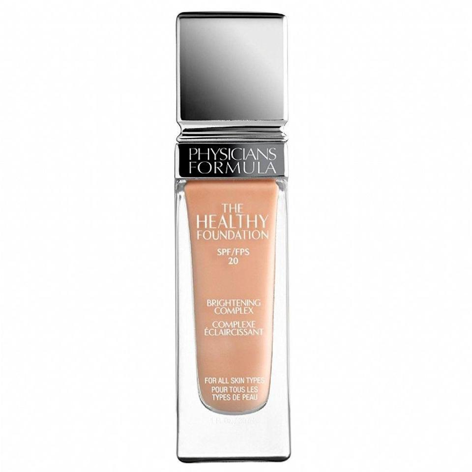 "<p>Physicians Formula is a great pick if you have sensitive skin; it covers redness and bumps without stinging or flaking.</p><strong>Physician's Formula</strong>, $11.87, available at <a href=""https://jet.com/product/Physicians-Formula-The-Healthy-Foundation-SPF-20-LC1/d9ab5a86455d4dd8b458a7905d78c98b?beaconId=4a5597c4-3588-4eca-8f6d-156e6dd0eeb6%2F11%2Fx~d9ab5a86455d4dd8b458a7905d78c98b&origination=PLP"" rel=""nofollow noopener"" target=""_blank"" data-ylk=""slk:Jet"" class=""link rapid-noclick-resp"">Jet</a>"