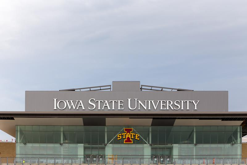 Ames, United States - August 6, 2015: Jack Trice Football Stadium on the campus of the University of Iowa State.