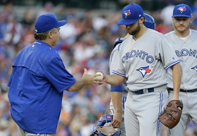 Former Toronto pitcher Mike Bolsinger believes the Houston Astros sign-stealing effectively ended his career (AFP Photo/Duane Burleson)