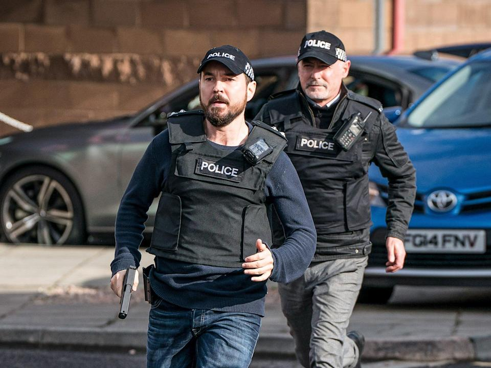 Martin Compston in this Sunday's episode of Line of Duty (BBC/World Productions/Steffan Hill)