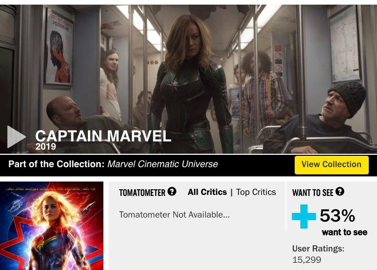 Rotten Tomatoes screenshot from Friday, Feb 22. (Photo: Rotten Tomatoes)