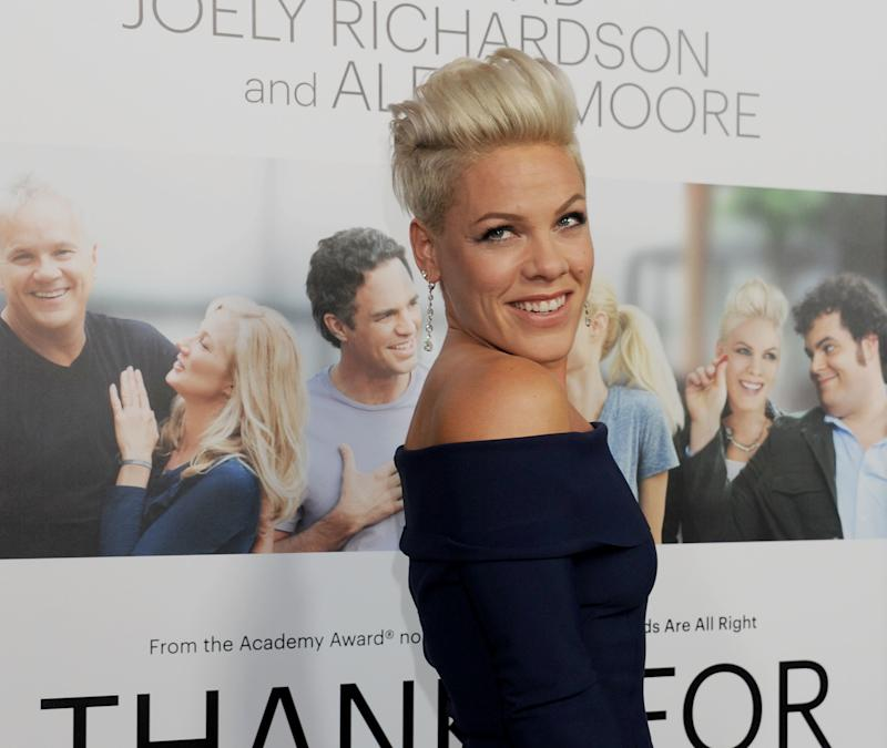 Pink posted another tweet that made her stance on aging crystal clear. (Gregg DeGuire via Getty Images)
