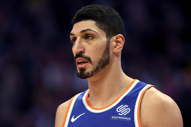 Enes Kanter of the New York Knicks missed his team's game in London over safety fears (AFP Photo/MATTHEW STOCKMAN)