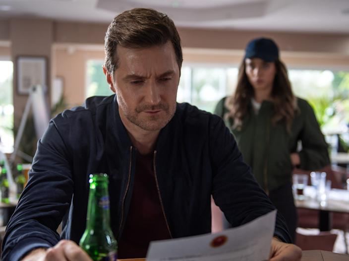 """The Stranger"" stars Richard Armitage and Hannah John-Kamen."