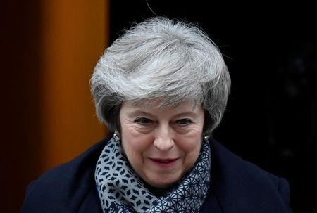 Britain's Prime Minister Theresa May leaves Downing Street, as she faces a no confidence vote after Parliament rejected her Brexit deal, in London, Britain, January 16, 2019. REUTERS/Toby Melville