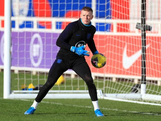 Pickford is hoping for a better outcome at Anfield on Wednesday (PA)