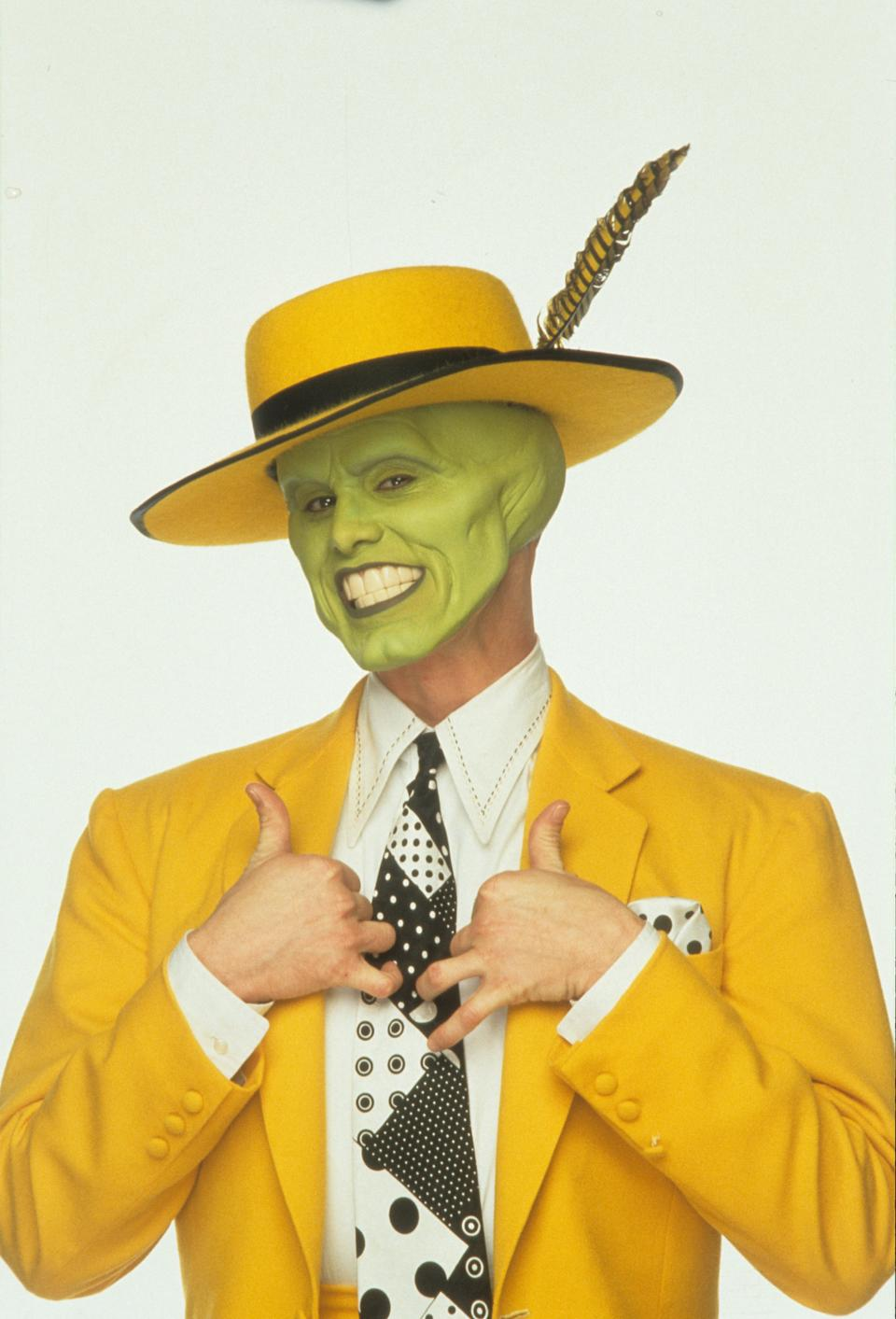 Jim Carrey publicity portrait for the film 'The Mask', 1994. (Photo by New Line Cinema/Getty Images)