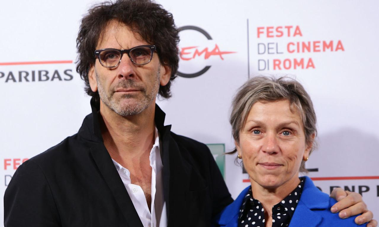 <p>Coen and McDormand met when she auditioned for his and his brother Ethan Coen's first movie <em>Blood Simple</em>. She nearly didn't go to the callback because she wanted to be there for her then-boyfriend doing a two-line debut on a soap, but she did and the pair have been married since 1984.<br />The actor has appeared in several of his movies and won an Oscar for her role in <em>Fargo</em>, so clearly they are a dream team both on and off the screen. </p>