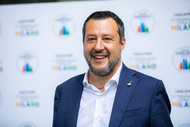 Matteo Salvini attends the press conference of the candidate mayor Luca Bernardo at Palazzo delle Stelline on July 16, 2021 in Milan, Italy. (Photo by Alessandro Bremec/NurPhoto via Getty Images) (Photo: NurPhoto via Getty Images)