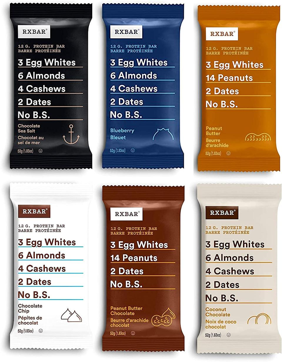 Save 40% on RXBAR Variety Pack, 12ct. Image via Amazon.