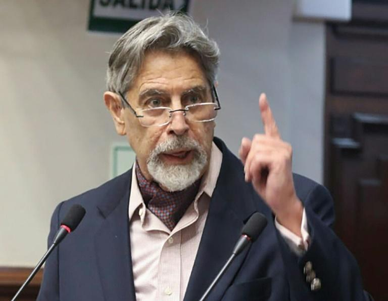 Francisco Sagasti, pictured September 2020, was elected president as Peruvian lawmakers met to try to move on from a crippling political crisis