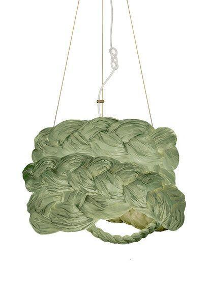 """<p>marieburgosdesignthestore.com</p><p><strong>$1490.00</strong></p><p><a href=""""https://www.marieburgosdesignthestore.com/ceiling-lights-/-chandeliers/the-bride-pendant-light-medium-blue"""" rel=""""nofollow noopener"""" target=""""_blank"""" data-ylk=""""slk:Get the Look"""" class=""""link rapid-noclick-resp"""">Get the Look</a></p><p>We love all things Marie Burgos, and her sculptural woven pendants are sure to bring organic beauty and a sense of comfort to your living or sleeping space. They are offered in six colors and no two look exactly the same. </p>"""