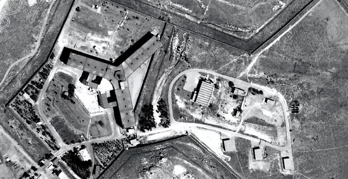 Satellite image released by Amnesty International shows the military-run Saydnaya prison on the outskirts of Damascus (AFP Photo/)