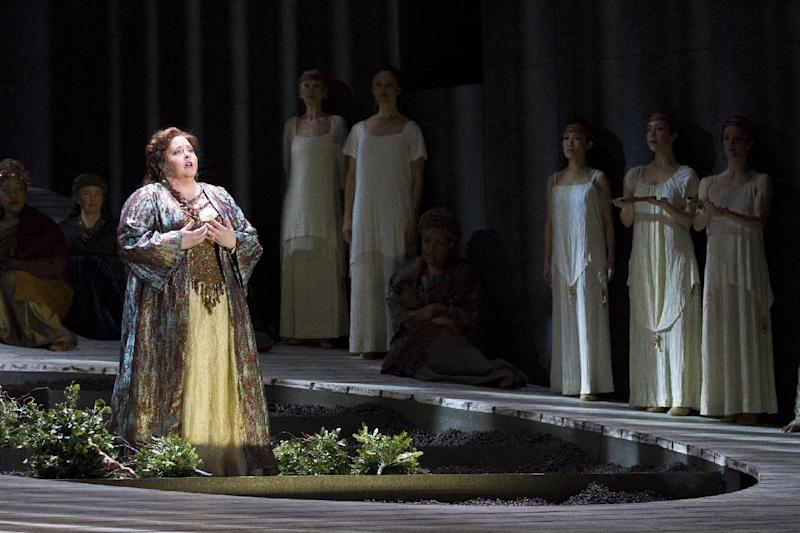 This undated handout photo provided by the Washington National Opera shows Angela Meade as Norma. (AP Photo/Scott Suchman, WNO)