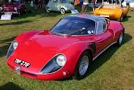 <p>Does it get curvier than this? The ultra-rare Stradale variant of Alfa's T33 race car may be the pinnacle of the eye-catching European '60s automotive style. It's thought to be the first car with butterfly doors.</p>
