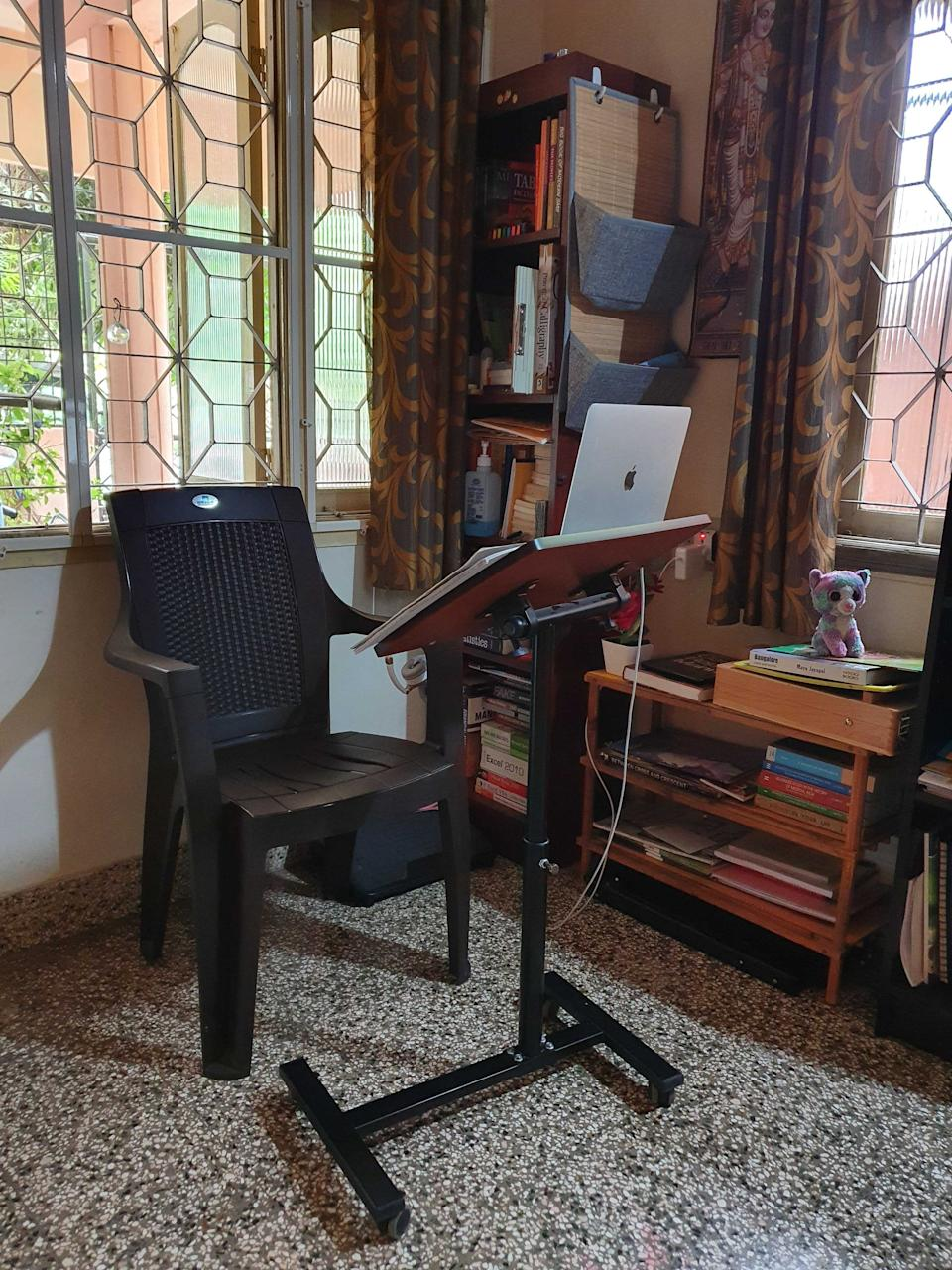 Ergonomics are everything! <em>Photo credit: Nagabhushan Saralaya</em>