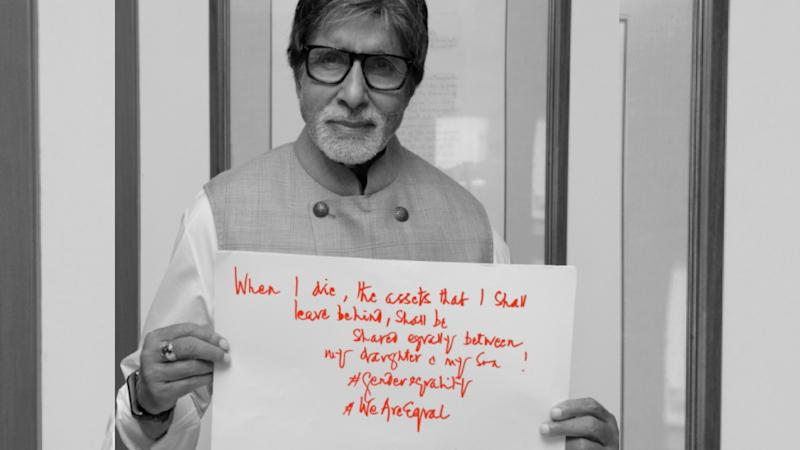 B'wood on Twitter Today: Big B endorses Gender Equality & More