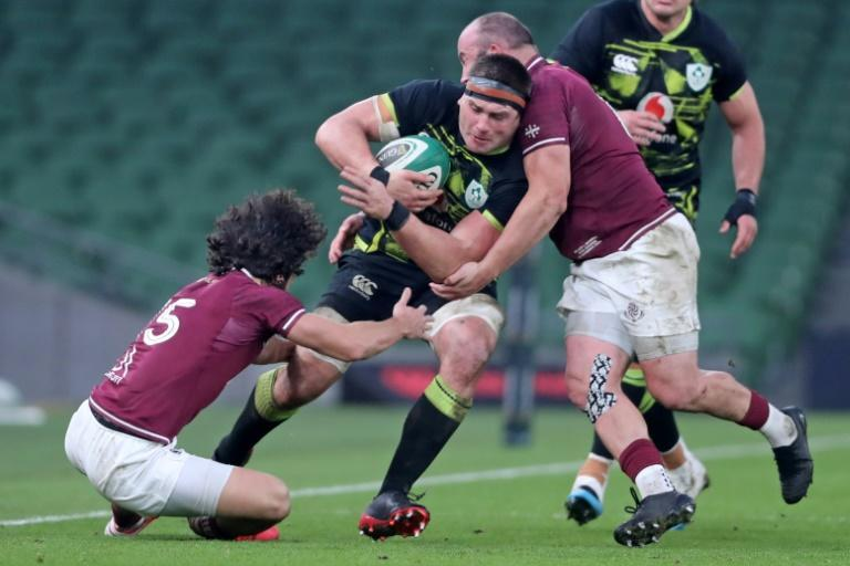 Georgia produced a tenacious and competitive performance before going down to a 23-10 defeat by Ireland in the Autumn Nations Cup