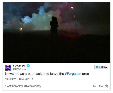 Photo and tweet from FOX2now