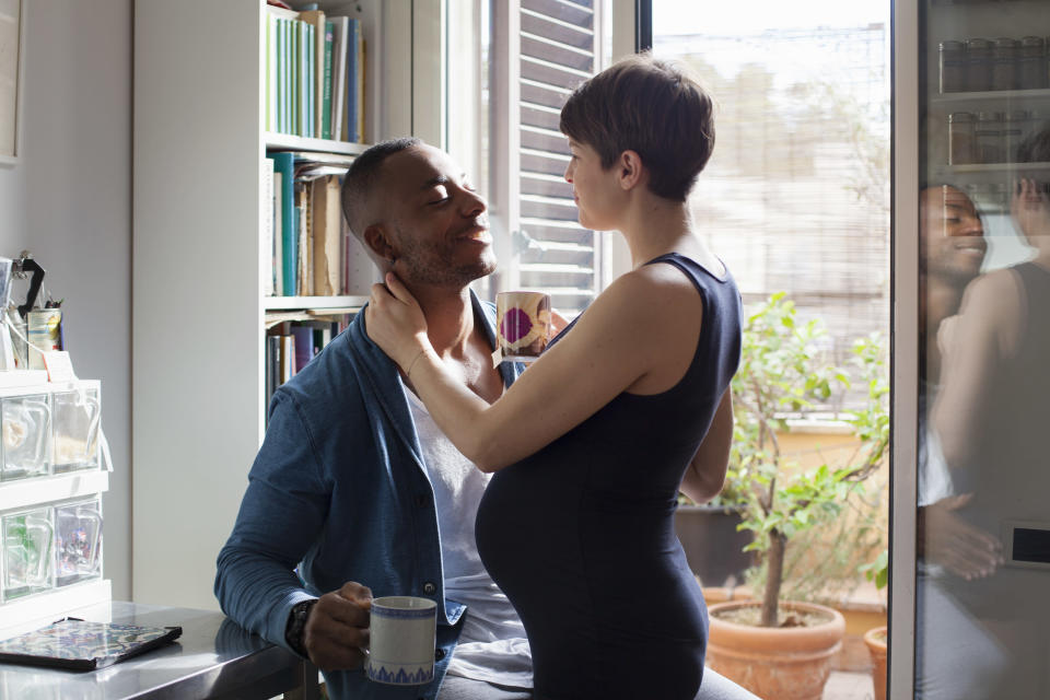 A study has revealed men who drink two cups of coffee in the week before having sex could increase the chances of conception[Photo: Getty]
