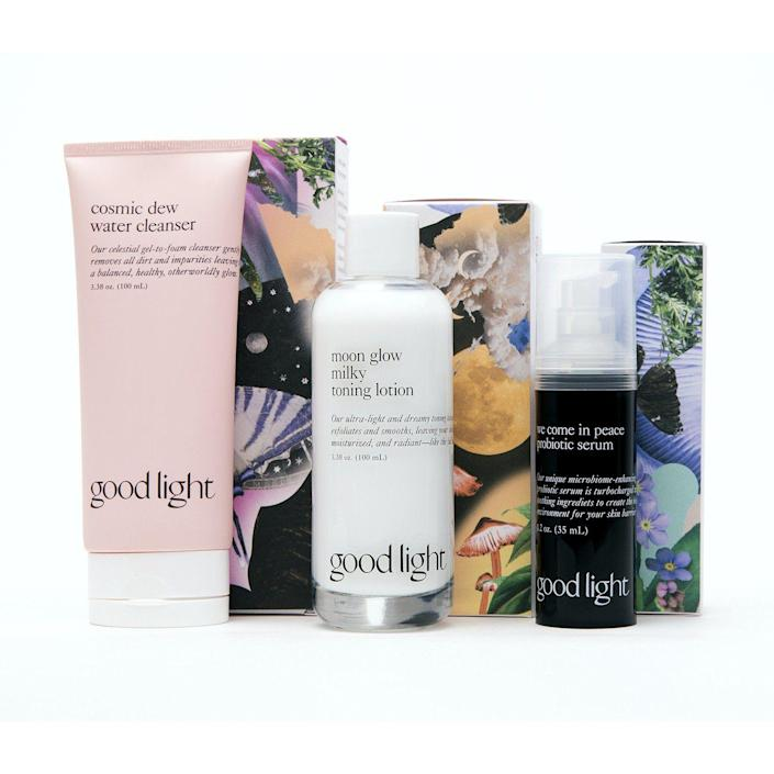 """<p><strong>Good Light Metamorphosis Skincare Set</strong></p><p>goodlight.world</p><p><strong>$64.00</strong></p><p><a href=""""https://go.redirectingat.com?id=74968X1596630&url=https%3A%2F%2Fwww.goodlight.world%2Fproducts%2Fmetamorphosis-skincare-set&sref=https%3A%2F%2Fwww.harpersbazaar.com%2Fbeauty%2Fmakeup%2Fg36077180%2Fasian-owned-beauty-brands%2F"""" rel=""""nofollow noopener"""" target=""""_blank"""" data-ylk=""""slk:Shop Now"""" class=""""link rapid-noclick-resp"""">Shop Now</a></p><p>Founder David Yi created Good Light to be the skincare brand that serves all people—regardless of gender identity or skin type. The Good Light Metamorphosis Skincare Set is great for sensitive skin. </p>"""