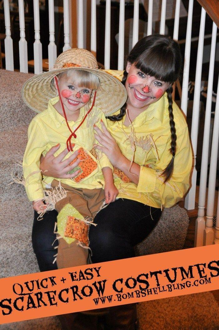 """<p>Dressing up for Halloween is even more fun when you can match someone you love! Instead of overalls, this costume comes together with a yellow shirt, pants, and patterned patches. </p><p><strong>Get the tutorial at <a href=""""https://www.bombshellbling.com/quick-easy-scarecrow-costumes/"""" rel=""""nofollow noopener"""" target=""""_blank"""" data-ylk=""""slk:Bombshell Bling"""" class=""""link rapid-noclick-resp"""">Bombshell Bling</a>. </strong></p><p><a class=""""link rapid-noclick-resp"""" href=""""https://www.amazon.com/COTTONVILL-20count-Cotton-Fabric-Patchwork/dp/B07TY7S15D/ref=sr_1_2?tag=syn-yahoo-20&ascsubtag=%5Bartid%7C10050.g.28190286%5Bsrc%7Cyahoo-us"""" rel=""""nofollow noopener"""" target=""""_blank"""" data-ylk=""""slk:SHOP PATCHWORK FABRIC"""">SHOP PATCHWORK FABRIC</a><br></p>"""