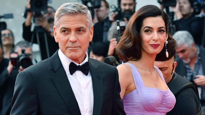 George and Amal Clooney donate a half million to gun control event