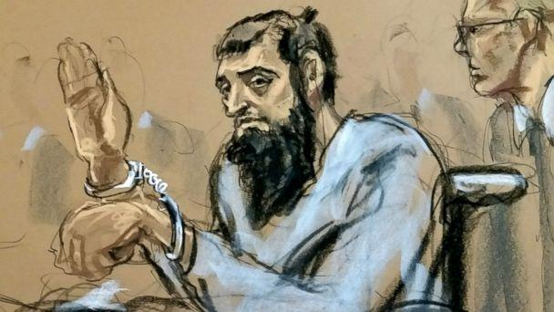 PHOTO: New York City terror suspect, Sayfullo Saipov, appears in federal court, Nov. 1, 2017, in New York City. (Jane Rosenberg/NNS)