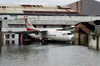 Kolkata's international airport was flooded by the cyclone