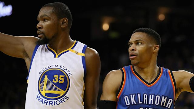 "Kevin Durant liked a comment that described Russell Westbrook as ""the problem"" when the pair were Oklahoma City Thunder team-mates."
