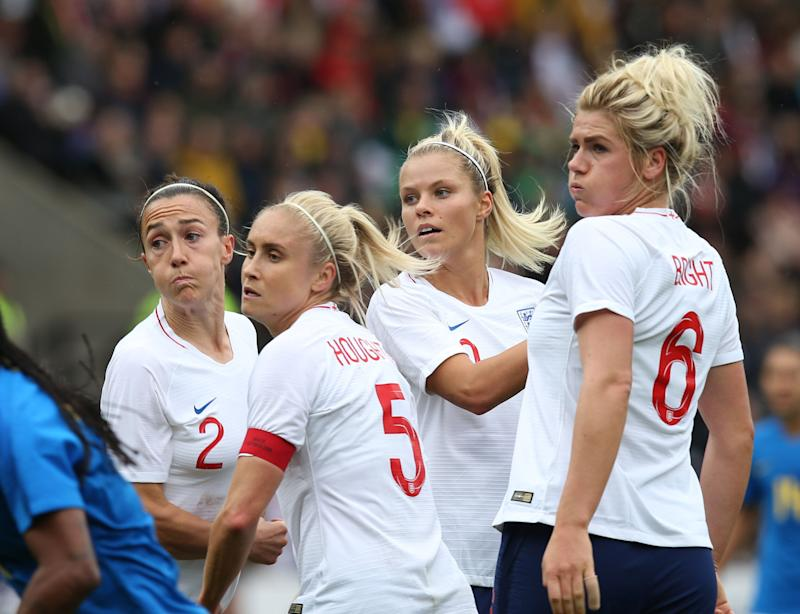 Lucy Bronze, Steph Houghton, Rachel Daly and Millie Bright of England